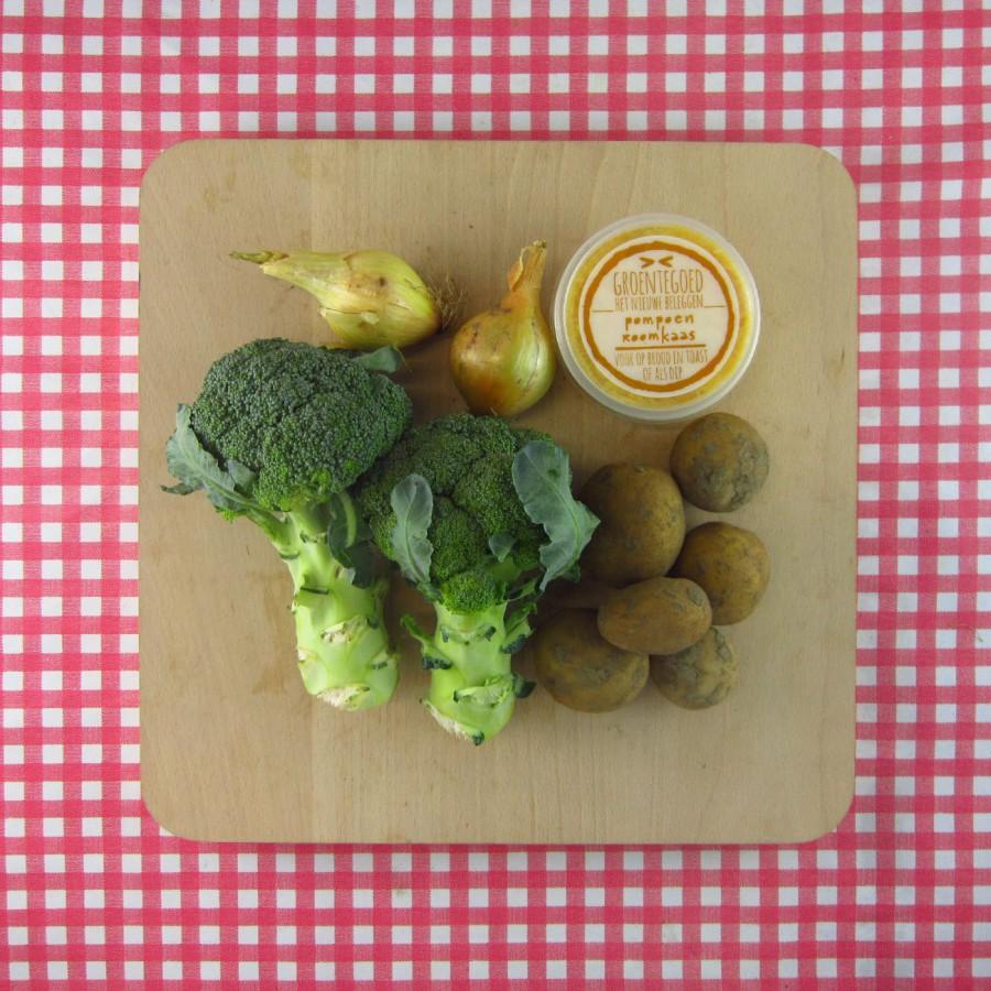 Broccolisoep met pompoen-roomkaas