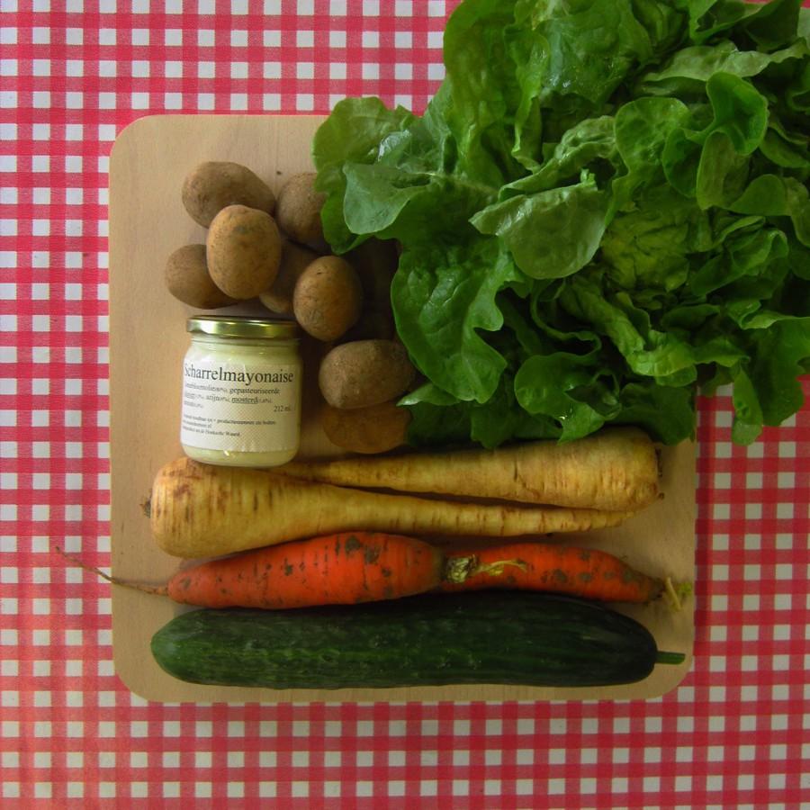 Krieltjes met groenten uit de oven