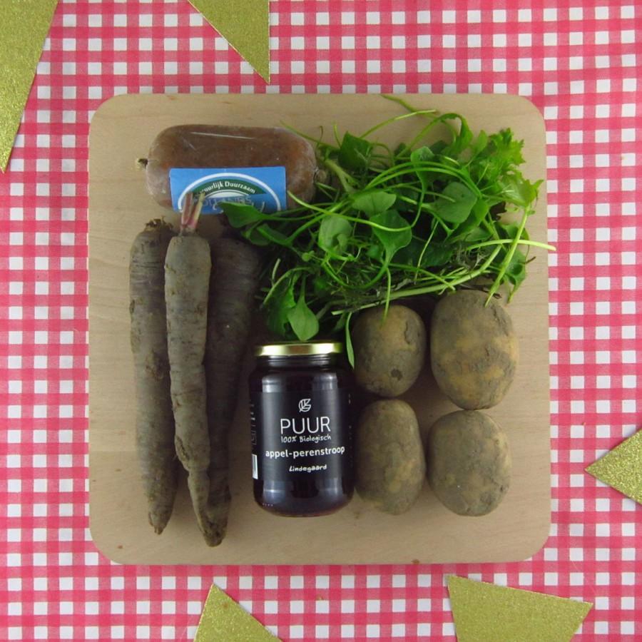 Luxe aardappelbakjes met wildstoof