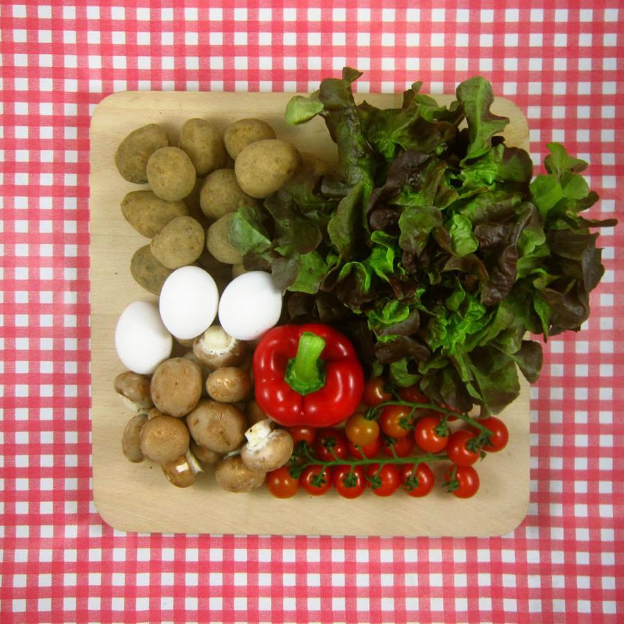 Paprika en aardappel uit de oven