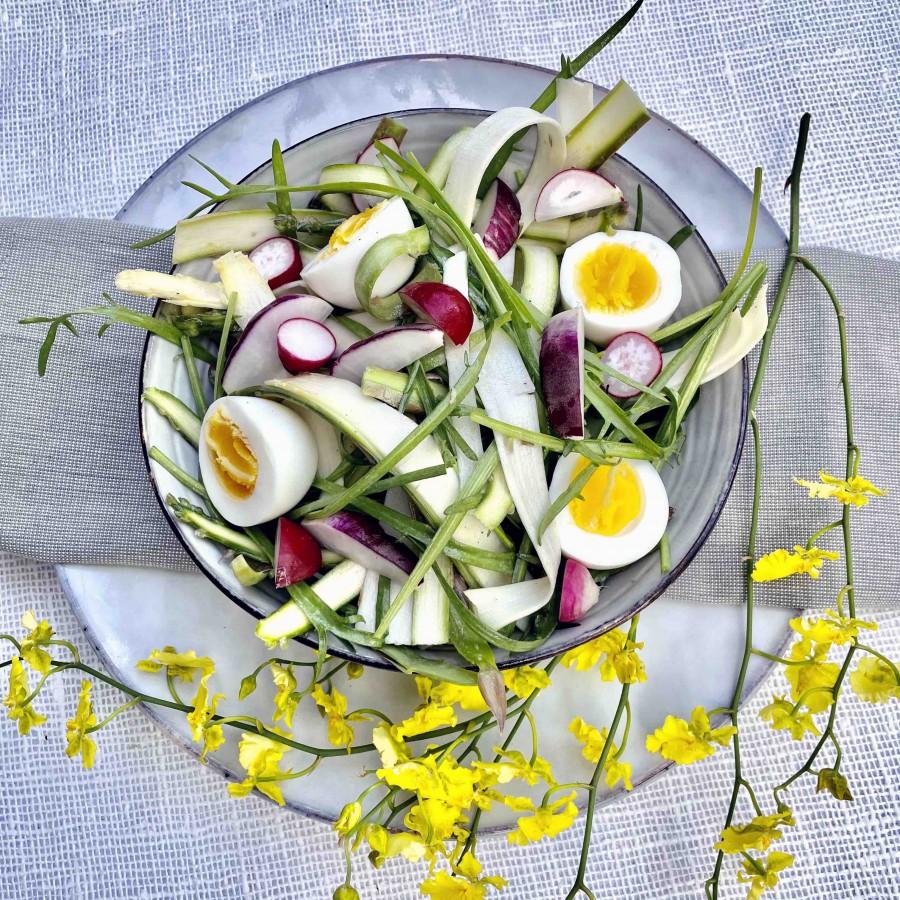 Salade aspergeslierten