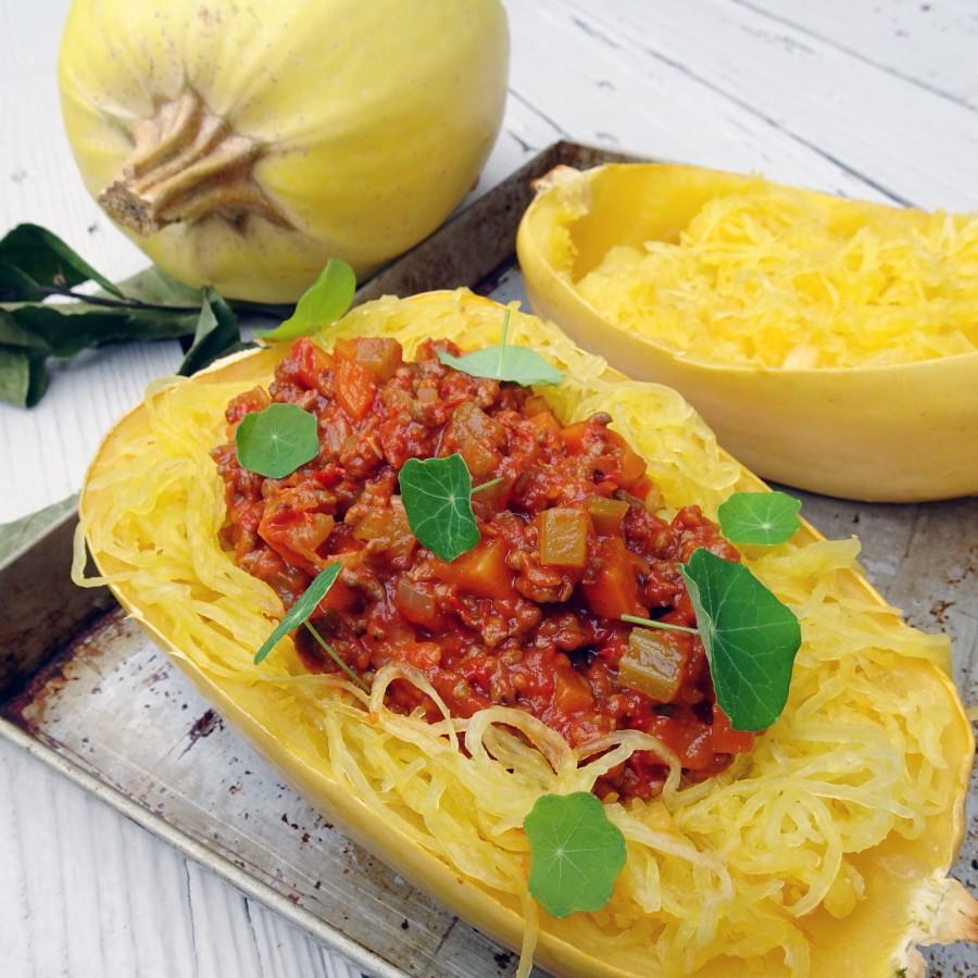 Spaghettipompoen bolognese