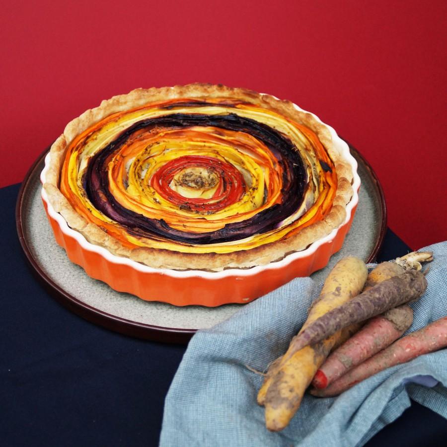 Spiraaltaart met wortel