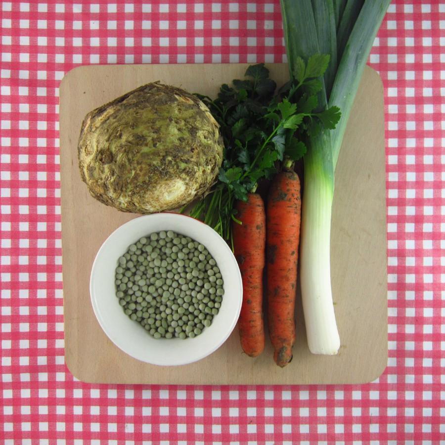Vegetarische erwtensoep