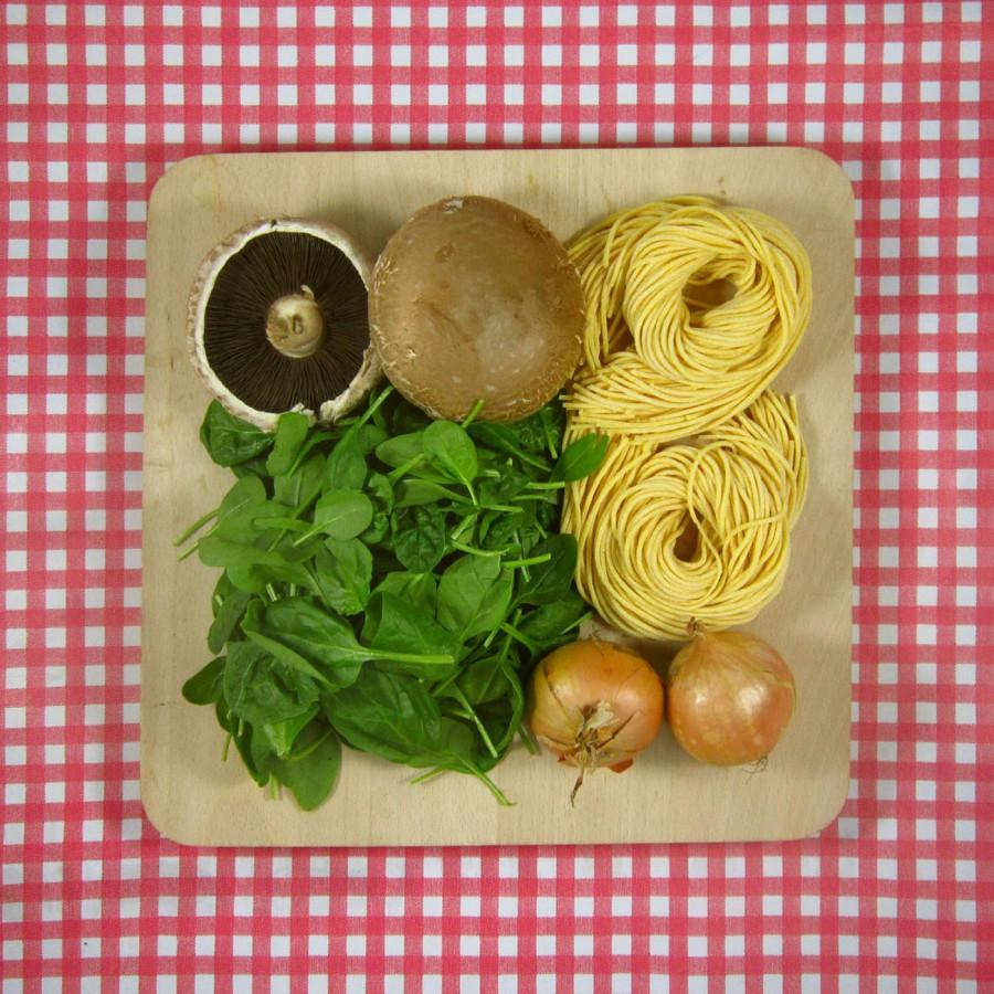 Verse spaghetti met spinazie