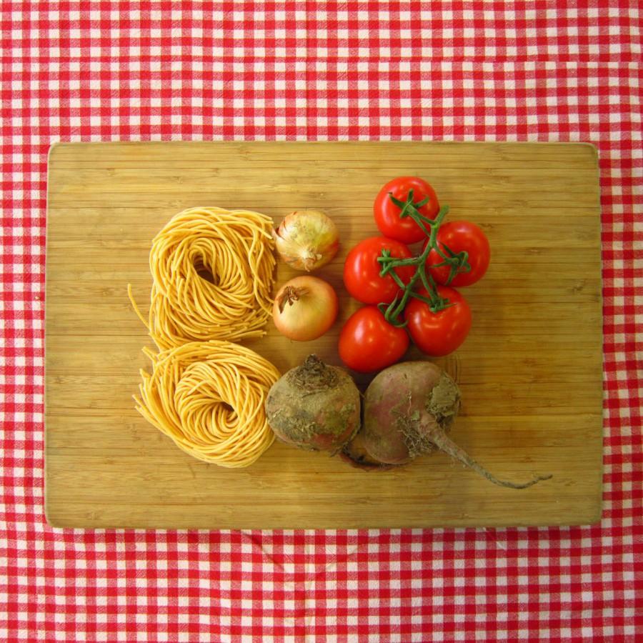 Verse spaghetti met tomatensaus