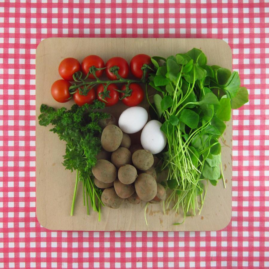 Warme aardappelsalade