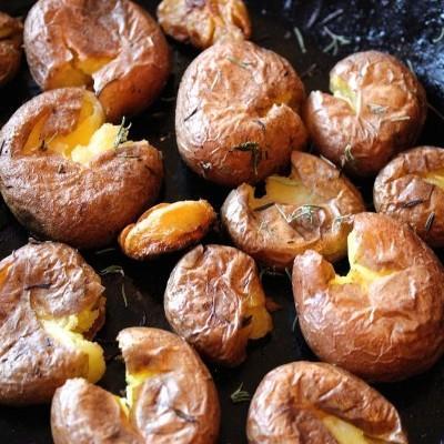 Raja aardappeltjes uit de pan