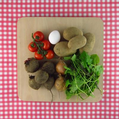 Bietenrösti met salade