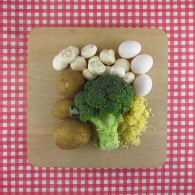 Broccoli-aardappel taart