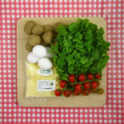 Frittata met tomaatjes en kaas