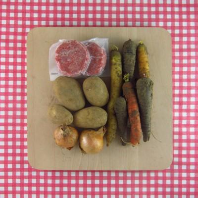 Gekleurde wortels uit de oven