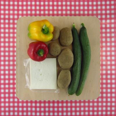 Kromme groenten-salade