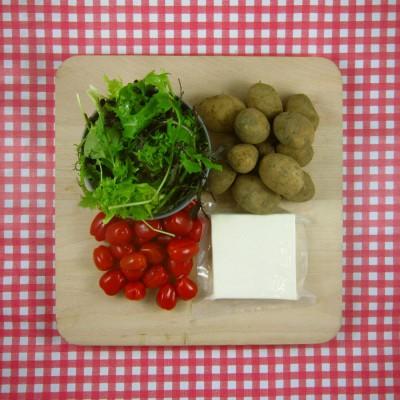 Maaltijdsalade met krieltjes en feta