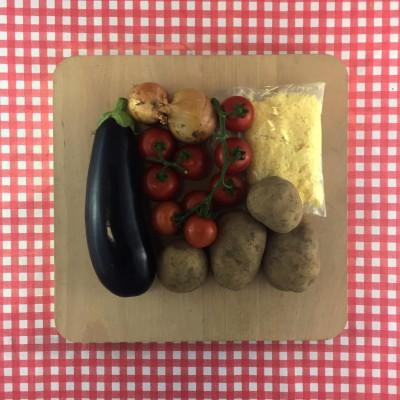 Shepherd's pie met aubergine