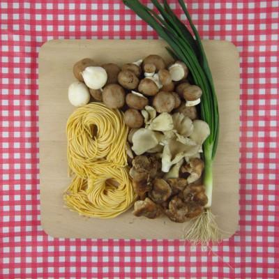 Verse spaghetti met paddenstoelen