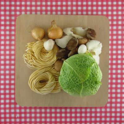 Verse spaghetti met savooiekool