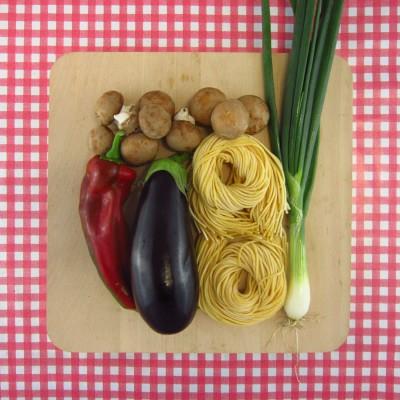 Verse spaghetti met veel groenten