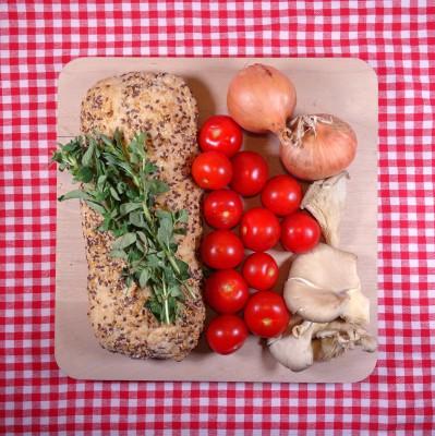 Verse tomatensoep met crostini van oesterzwammen