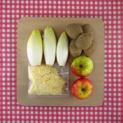 Witlofstamppot met appel