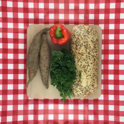 Zoete aardappelsoep met Ciabatta